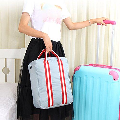 Latinaric Nylon Business Reisetasche Handgepäck Umhängetasche Tasche 27*36*14 Dunkelblau