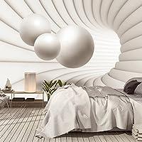 FOTOTAPETE ,,3D Architecture 110' 366 x 254cm 3 D 3D Abstrakt Architektur Raum Kugeln Modell Dimension Tapete inklusiv Kleister NEU XXL