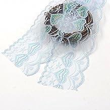 Cinta bordada neto del ajuste del cordón de la tela Cintas 10yard / Lote 75MM 7Colors de encaje para la decoración de costura