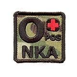 Multicam O POS O+ NKA Blutgruppen OD Embroidered Velcro Aufnäher Patch
