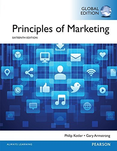 Principles of Marketing Global edition by Kotler, Philip, Armstrong, Gary (2015) Paperback