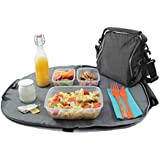 Roll'eat Eat'n'Out Negro - Porta tuppers 2 en 1 ( bolsa + mantel) - porta alimentos de diseño