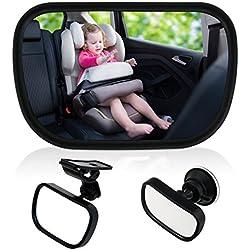 TedGem Bébé Vue Arrière Miroir, Miroir Auto Bébé Rétroviseur de Surveillance Bébé pour Siège Arrière Miroir de Voiture pour Bébé en Sécurité avez une Rotation
