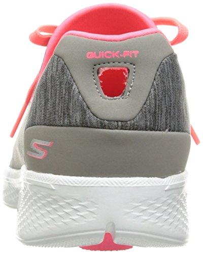 Skechers Go Walk 4-A.d.c, Scarpe da Ginnastica Basse Donna Grigio (gypk)