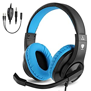 ShinePick Kopfhörer Kinder, 3.5mm Wired Gaming Headset mit Mikrofon, Leicht Bequem Overear Bass Surround für PS4/Xbox One/s/Nintendo Switch/PC/Computer/Handy(Rosa)