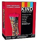 KIND Dark Chocolate Cherry Cashew - Dairy Free - Vegetarian Snack-Fruit Delight - 12x 40g bar