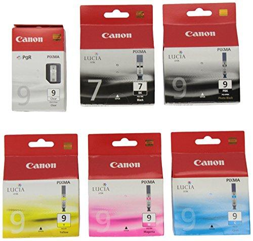 Canon – Juego de cartuchos de tinta para impresora Canon Pixma MX7600 (6 unidades, negro y color)