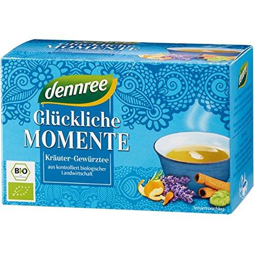 """dennree Kräuter-Gewürz-Tee """"Glückliche Momente"""" im Beutel (20 Beutel) - Bio"""