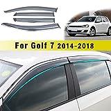 Jiahe per Volks wagen Golf 7 2014-2018 4PCS Deflettori d'Aria per Auto Deflettore Pioggia Vento Bloccare Sole Deflettori d'Aria Antiturbo