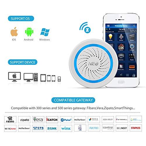 RENYAYA Drahtloser intelligenter Sirenenalarmsensor NEO COOLCAM NAS-AB01Z Alarm für Z-Wellensensoren Alarm für die Hausautomation,EU -