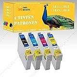 4 x Tintenpatronen kompatibel zu EPSON CET 1811-1814 XXL-Version! Epson Expression Home XP-102,XP-202, XP-205, XP-212 ,XP-215, XP-225