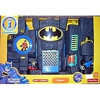 "Fisher-Price Imaginext - DC Super Friends - Bathöhle / Batcave ""SCHWARZ"" - incl. Batman & Robin Figur & Motorrad"