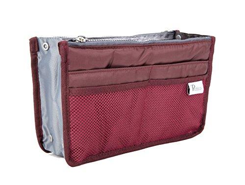 Periea - Organiseur de sac à main, 12 Compartiments - Chelsy (Wine, Petit: H15 x L22 x P2-10cm)
