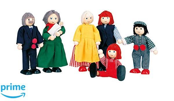 BINO 83563 6 Personen Puppenfamilie