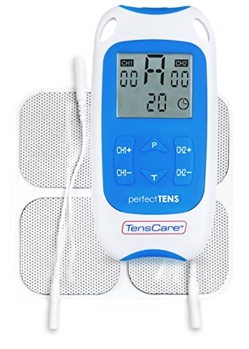 TensCare Perfect Tens - Estimulador muscular, color blanco y azul