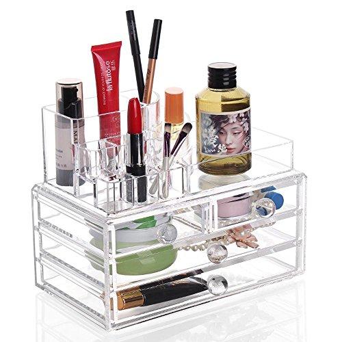 TuTu Boîte de rangement en acrylique cosmétiques / type de tiroir boîte de finition / boîte de rangement de bijoux (24 * 13,5 * 18,5 cm)