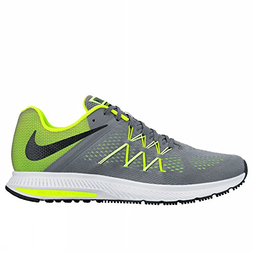 Nike Zoom Winflo 3, Chaussures de Course Homme, Multicolore (Cool Grey/Black Barely Volt), 42.5 EU