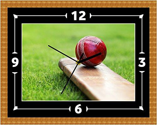 Cricket-Schläger Ball Wand Uhr Geschenk Weihnachten Geburtstag (kann personalisiert werden)