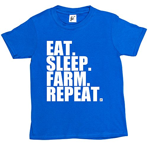 eat-sleep-farm-repeat-farming-farmers-tractor-kids-boys-girls-t-shirt-size-5-6-year-old-colour-royal