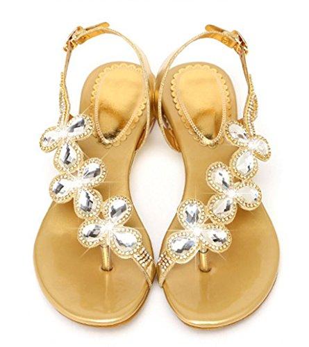 Sandalias Boda Zapatos Imitación Las Festival Luz De Oro 29beWEDHIY