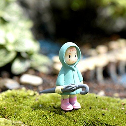 5x Miniatura Dollouse Fata Giardino Paesaggio Bonsai Decorazione Ragazza Con Mais