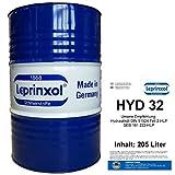 205l FASS HYD 32 LEPRINXOL HYDRAULIKFLÜSSIGKEIT. Das in 205 Liter Werkstattfass abgefüllte Hydrauliköl HLP 32 ist ein Mineralöl, das als Druckflüssigkeit, Hydraulik Öl, der DIN 51524 Teil 2-HLP, SEB 181 222-HLP und VDMA, in Hydraulikanlagen verwendet wird.