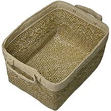 Compactor Cesta Sesame natural blanco pequeña