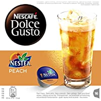 Nescafé Dolce Gusto - Nestea Peach - 3 Paquetes de 16 Cápsulas - Total: 48 Cápsulas