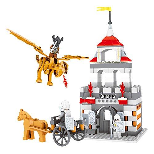 Ausini - Juego de construcción Castillo y dragones - 260 piezas (ColorBaby 44353)