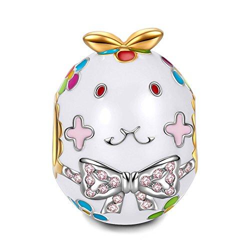 NINAQUEEN Fräulein Kaninchen Damen Charms 925 Silber Bead für pandora charms armband Halloween Muttertagsgeschenke Schmuck zum Valentinstag Geburtstag Jahrestag Mutter Tochter Mädchen Frauen Sie