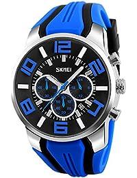 5a416d4225bb Skmei Mens Big Face Relojes YAHE Deportes impermeable Casual Fecha  Calendario Reloj de cuarzo analógico con