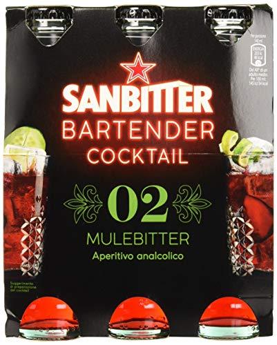 SanbittÈr bartender cocktail mulebitter, aperitivo analcolico 14cl x 3