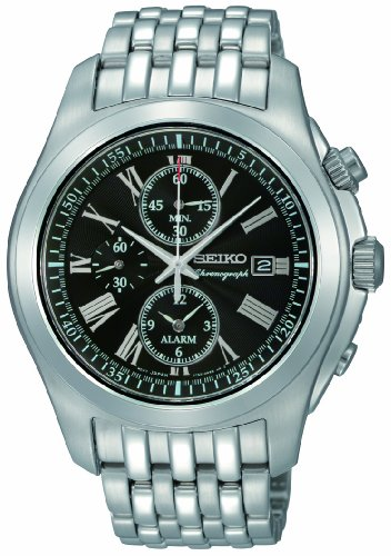 Seiko Men's Chronograph Quartz Analogue Watch SNAE31P1 with Stainless Steel Bracelet