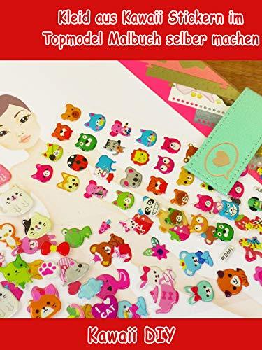 Clip: Kleid aus Kawaii Stickern im Topmodel Malbuch selber machen - Kawaii DIY (Club-kleid Versand Prime)