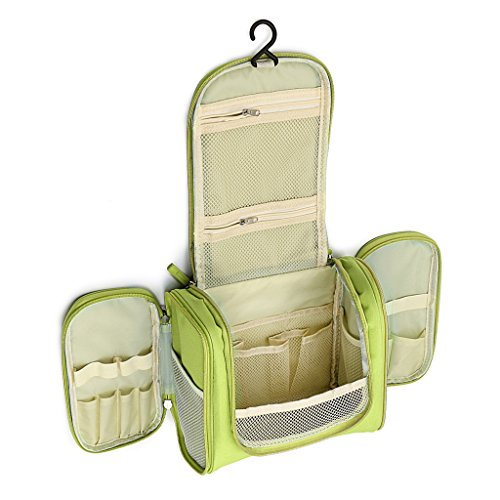 Sumnacon Trousse/Sac/Organisateur de Toilette Suspendu par Crochet,Sac rangement Trousse cosmétique,Organiser pour Vacance (vert)