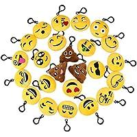 nicebuty 24PC Mini Emoji Emoticon Schlüsselanhänger Plüsch für Dekoration Geschenk Handtasche Rucksack Schlüsselanhänger preisvergleich bei billige-tabletten.eu