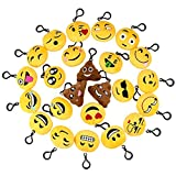 - Smiley Rocita 24 Pack Charmante Mini Oreiller De Jouets En Peluche Cadeaux Oreillers Émoticône Porte - Clés