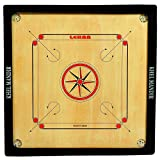 #8: GSI Khel Mandir Gloss Finish Medium Size 26 inch 4mm Gloss Finish Carrom Board with Coins, Striker and Powder