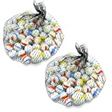 Neez Murmeln, Glasmurmeln, Deko Kugeln Durchsichtig Klare Dekoration Glaskügelchen bunt Spielzeug, Packung mit 50/100/200 Stück (Packung mit 200 milchig)
