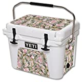 MightySkins Protective Vinyl Skin Decal for YETI Roadie 20 qt Cooler wrap cover sticker skins TrueTimber Mc2 Pink