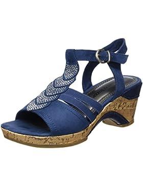 Marco Tozzi Damen 28005 Offene Sandalen mit Keilabsatz