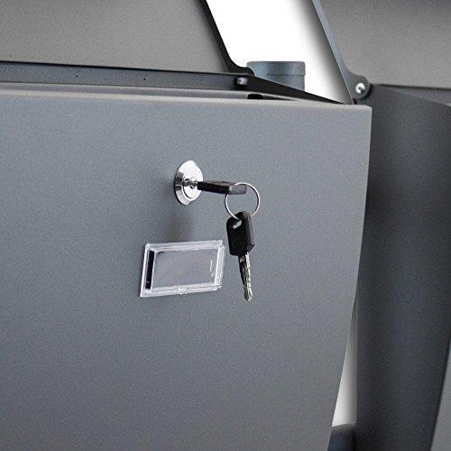 BITUXX® Freistehender Doppelstandbriefkasten Briefkastenanlage Briefkasten Einwurf oben Dunkelgrau Anthrazit - 5