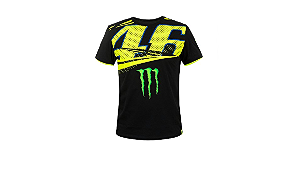Vr46 Valentino Rossi Herren Monster Energy T Shirt Motogp Bekleidung