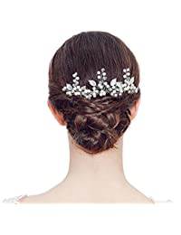 BigTree Fashion retro Pearl Flower Hair Clip Hair pins Bridal Hair Accessories Rhinestone Hair Clip