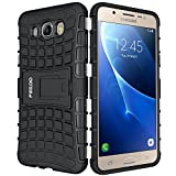 Funda Galaxy J7 (2016),Pegoo Proteccion Cover Case para (2016) Samsung Galaxy J7 (Negro)