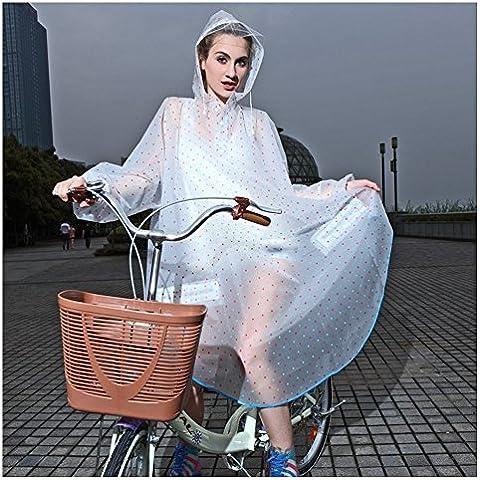 Capas de Xagoo lluvia chaqueta impermeable de la manera mujeres con estilo muchachas de las señoras de secado rápido con capucha del impermeable lindo encantador del lunar ropa impermeable para bicicleta de motocicleta de la moto