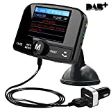 from FirstE FirstE Car DAB+ Radio Tuner Adaptor, Portable Auto DAB Digital Radio Audio Adapter Bluetooth FM Transmitter, Wireless Music Streaming, Handsfree Call with AUX IN/OUT, 2.4 TFT Color Display Model DAB-008