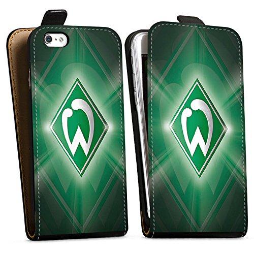 Apple iPhone 6s Hülle Silikon Case Schutz Cover Werder Bremen Fanartikel SV Fußball Downflip Tasche schwarz
