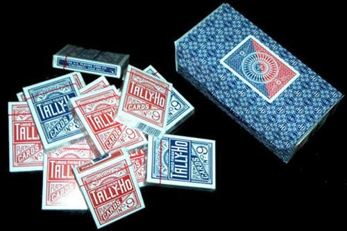 tally-ho-circle-12-decks-pack-by-us-playing-cards-company-6-blue-6-red-by-uspcc