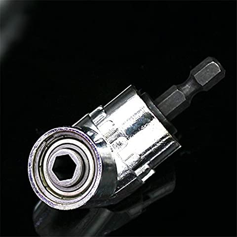 ETGtek(TM) 3pcs 105 degrés angle droit conducteur percer et tournevis électrique Fixation de perçage avec 1/4-inch Hex Quick Change Drive et magnétique Bit Socket
